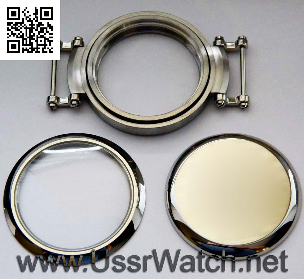 Big 50 Mm New Stainless Steel Watch Case Inner Diameter
