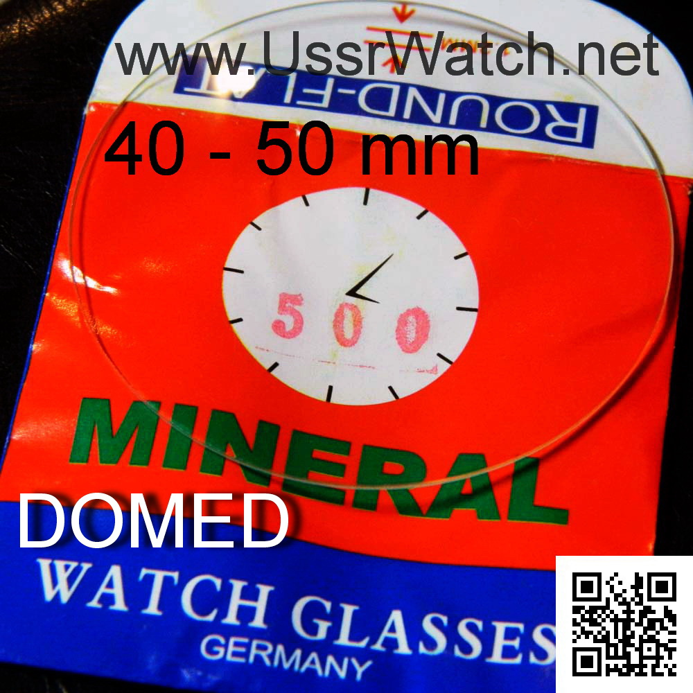 DOMED Curved Crystal MINERAL Glass size 40mm-50mm for POCKET & big WRIST WATCHES