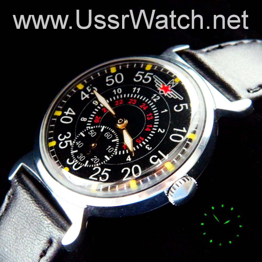 watch e by description aviator poljot russki automatic image russian watches automatik pilot s fliegeruhren uhren