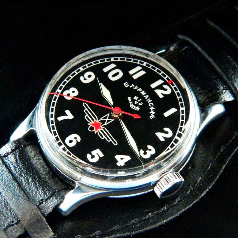 Jurij Gagarin SHTURMANSKIE USSR Air Force Poljot 1MWF 16J Black