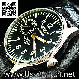 Huge Russian AVIATOR MOLNIJA molnia for USSR pilot MILITARY WATCH