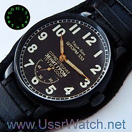 Black Storm Zenith KGB КГБ Russian USSR CCCP MILITARY MANUAL WIND MENS WATCH TOP