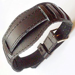 Black 18 mm or 20 mm or 22 mm Russian MILITARY PILOT WATCH GENUINE LEATHER BAND