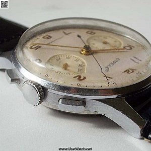Ultra Rare USSR chronograph Poljot Strela 3017 FIRST MODEL from 1959 with serial number 00586