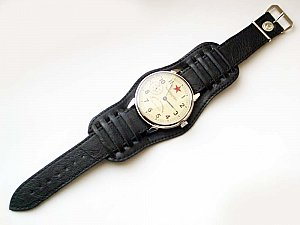 BRAND NEW 22 mm Russian MILITARY PILOT WATCH GENUINE LEATHER BAND 5 colors
