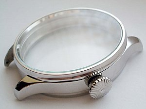 Big New Stainless Steel (Three parts) Case Inner Diameter appr. 42mm (can be miled to 43mm)