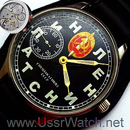 Big Lenin + Stalin KGB RUSSIAN USSR Stainless Steel Hight Quality MANUAL WIND MILITARY WATCH MOLNIJA